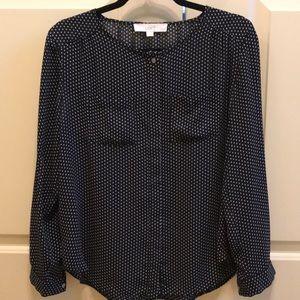 Polka dot Loft blouse with pockets